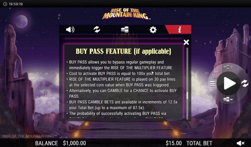 Rise of the Mountain King :: Buy Pass Feature