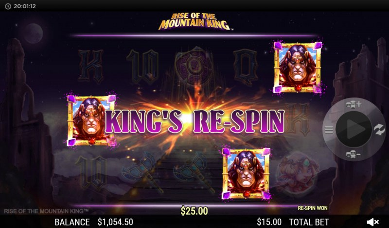 Rise of the Mountain King :: Respin feature triggered