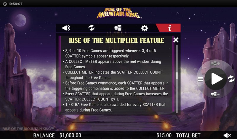 Rise of the Mountain King :: Rise of the Multiplier Feature
