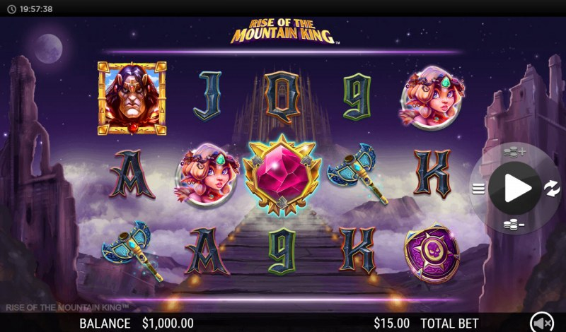 Play slots at Betway: Betway featuring the Video Slots Rise of the Mountain King with a maximum payout of $250,000