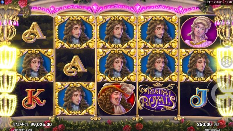 Rising Royals :: Respins continue until no more matching royal symbols appear