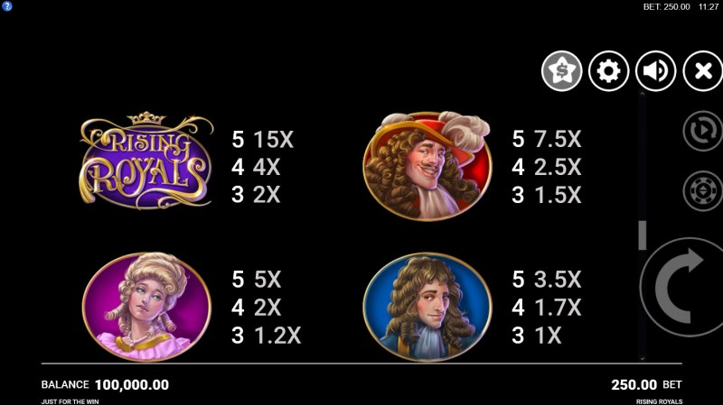 Play slots at Dream Vegas: Dream Vegas featuring the Video Slots Rising Royals with a maximum payout of $75,000