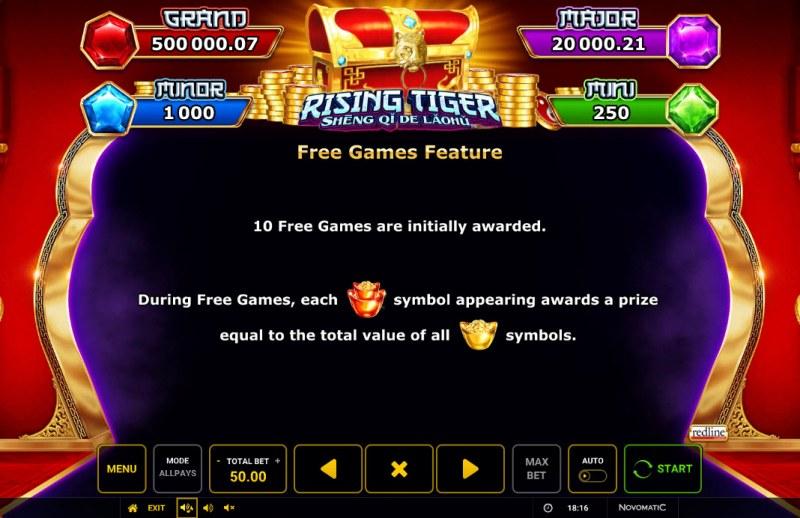 Rising Tiger Sheng Qi De Laohu :: Free Game Rules