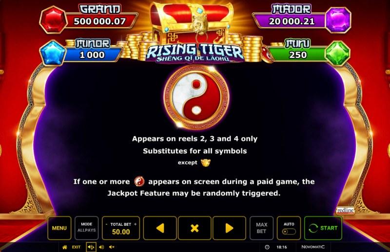 Rising Tiger Sheng Qi De Laohu :: Wild Symbol Rules