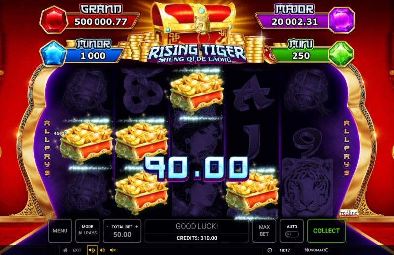 Rising Tiger Sheng Qi De Laohu :: A four of a kind win