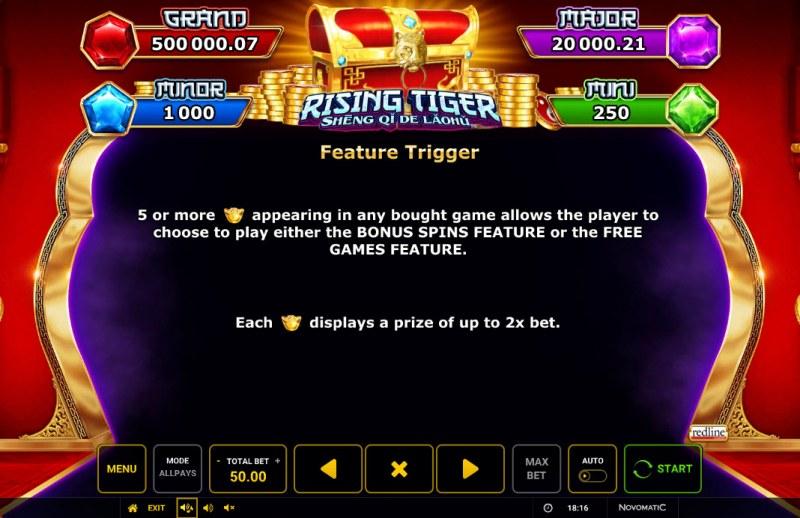 Rising Tiger Sheng Qi De Laohu :: Feature Rules