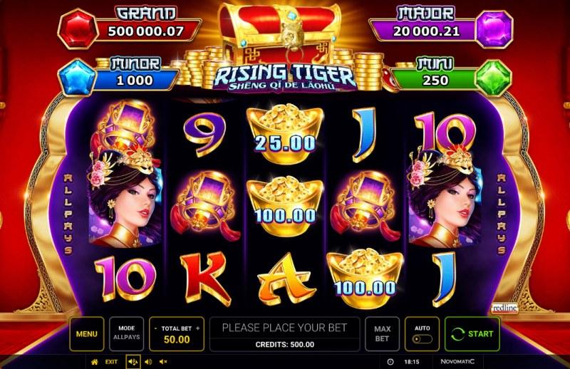 Rising Tiger Sheng Qi De Laohu :: Main Game Board
