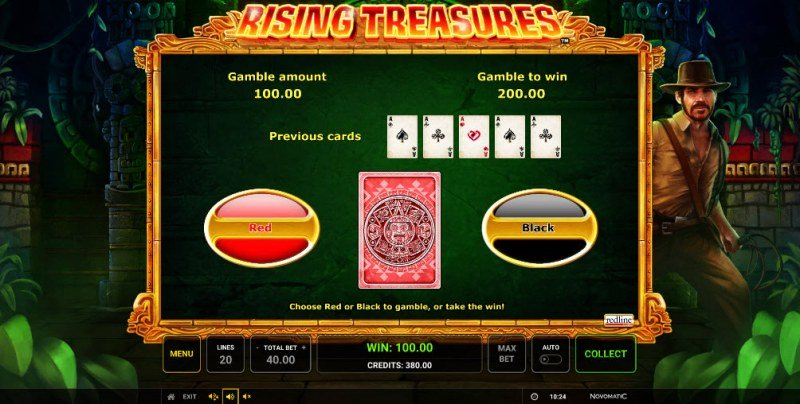 Rising Treasures :: Red or Black Gamble Feature