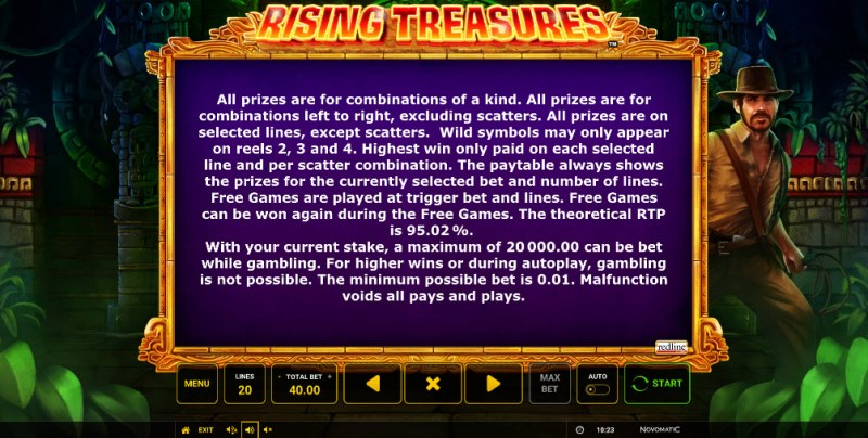 Rising Treasures :: General Game Rules