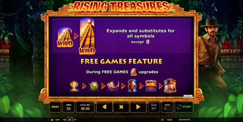 Rising Treasures :: Free Spins Rules