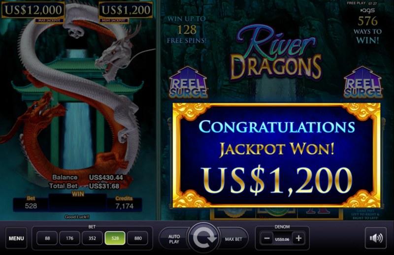 River Dragons :: Jackpot Won