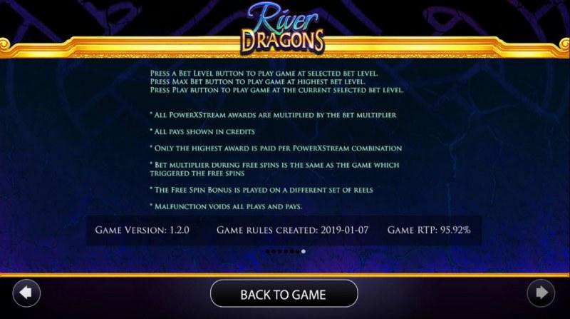 River Dragons :: General Game Rules