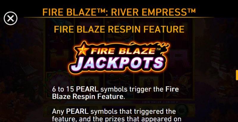 River Empress Fire Blaze :: Fire Blaze Respin Feature
