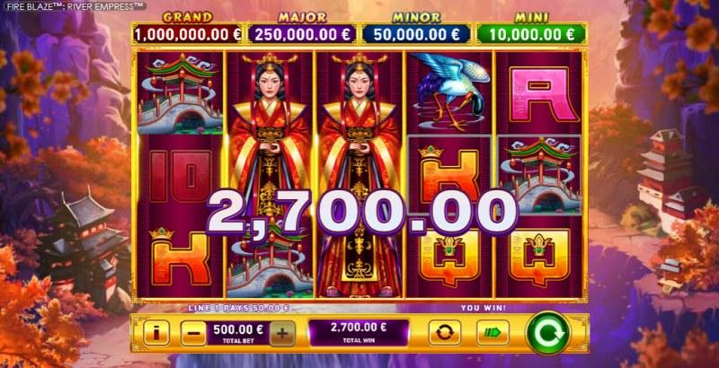 River Empress Fire Blaze :: Multiple winning paylines