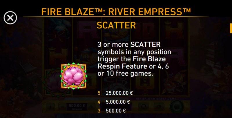 River Empress Fire Blaze :: Scatter Symbol Rules