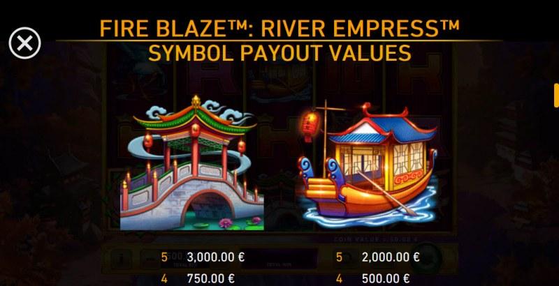 River Empress Fire Blaze :: Paytable - High Value Symbols