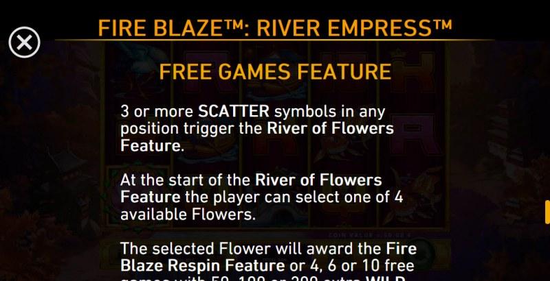 River Empress Fire Blaze :: Free Game Rules
