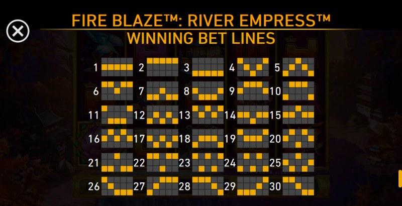 River Empress Fire Blaze :: Paylines 1-30