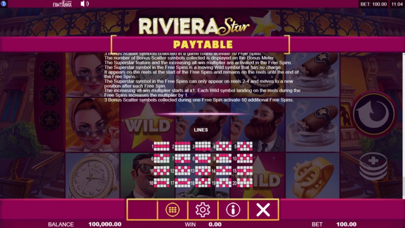 Riviera Star :: General Game Rules