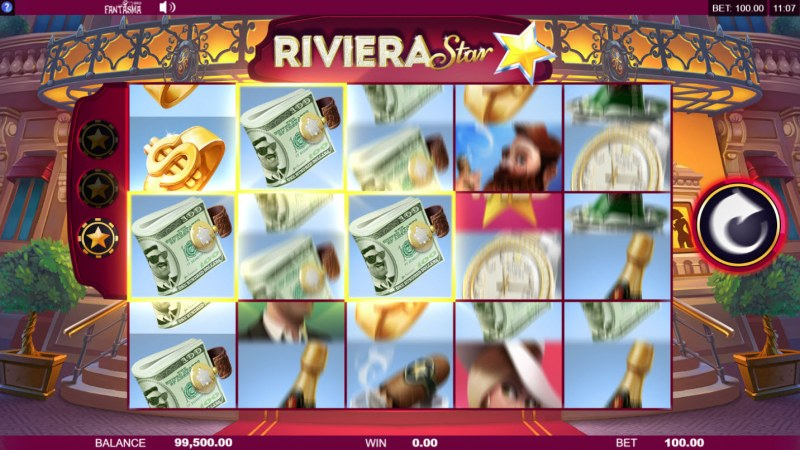Riviera Star :: Kepp landing matching symbols and the respin feature will continue
