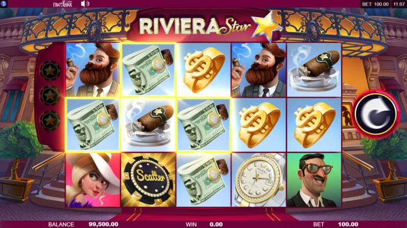 Riviera Star :: Any line win triggers the respin feature