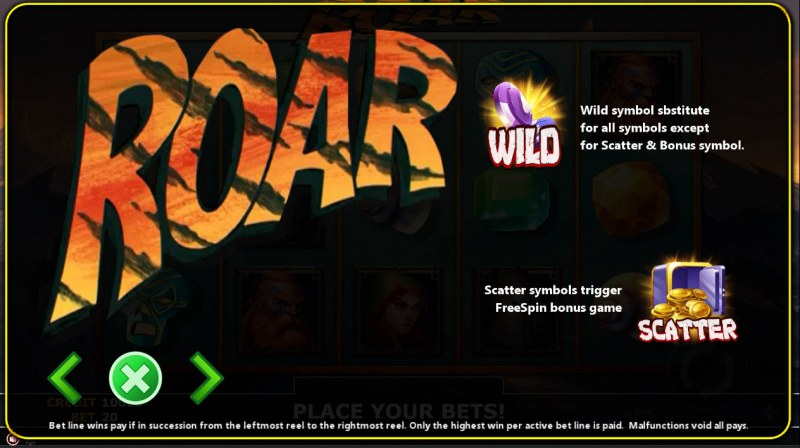 Roar :: Wild and Scatter Rules