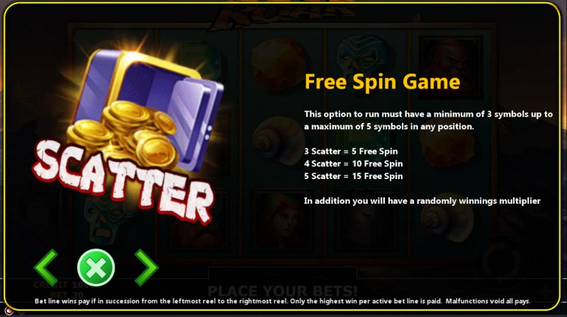 Roar :: Free Spins Rules
