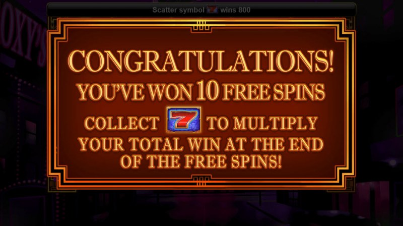Roaring 7's :: 10 Free Spins Awarded