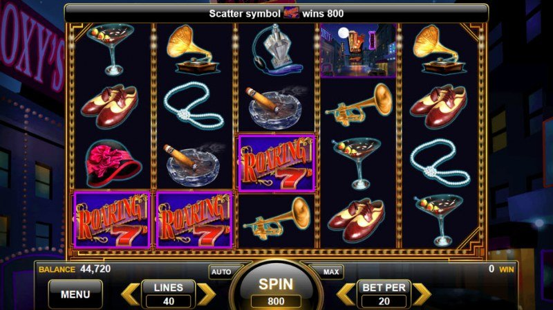 Roaring 7's :: Scatter symbols triggers the free spins feature