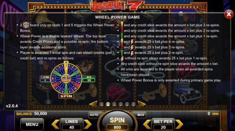 Roaring 7's :: Bonus Game Rules