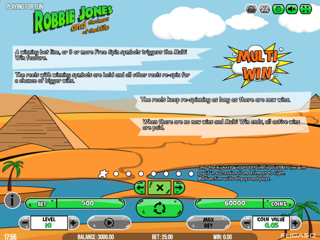 Robbie Jones and the Heart of the Nile :: Multi Win Re-Spin