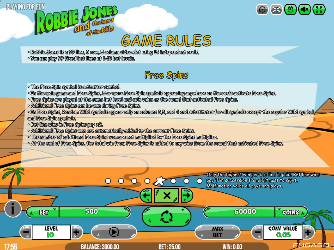 Robbie Jones and the Heart of the Nile :: General Game Rules