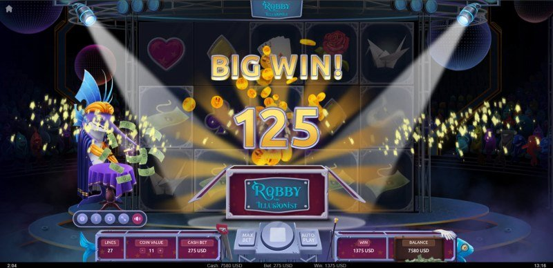 Robby the Illusionist :: Big Win