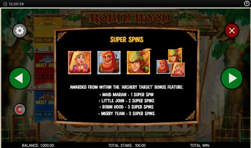 Robin Hood and His Merry Jackpots :: Super Spins