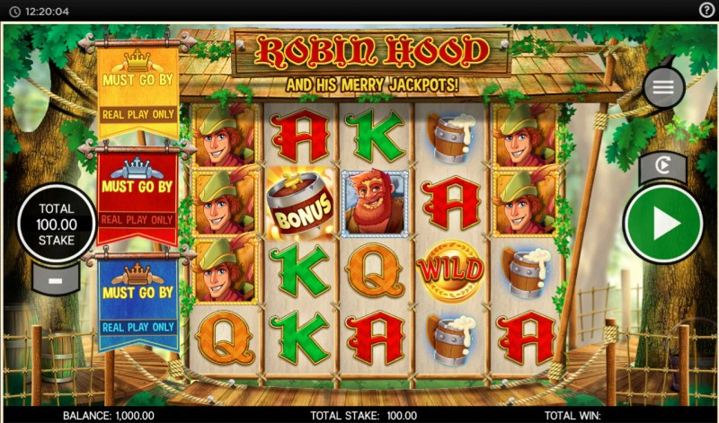 Robin Hood and His Merry Jackpots :: Main Game Board