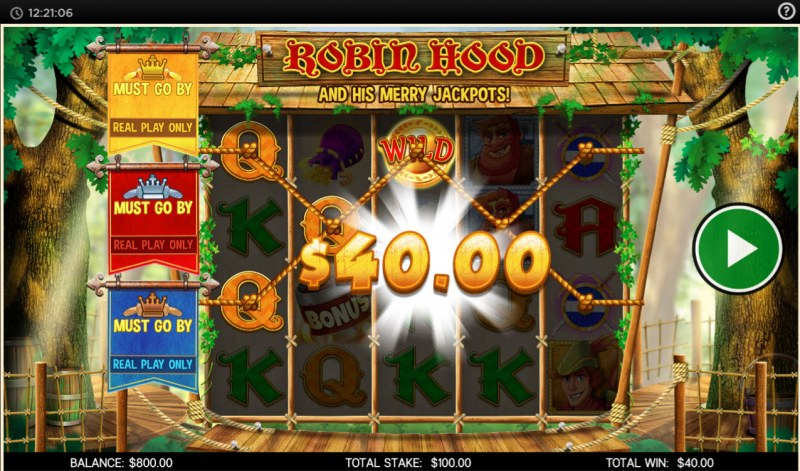 Robin Hood and His Merry Jackpots :: Multiple winning paylines