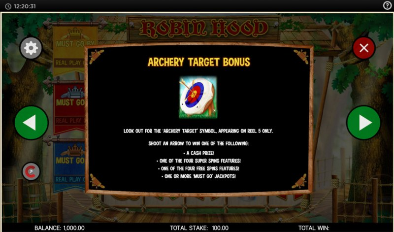 Robin Hood and His Merry Jackpots :: Bonus Game Rules