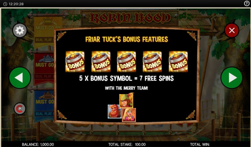 Robin Hood and His Merry Jackpots :: Free Spins Rules