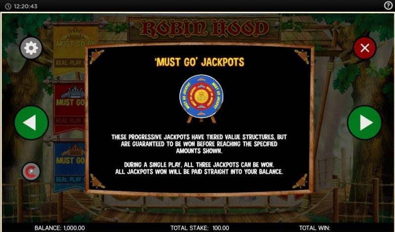 Robin Hood and His Merry Jackpots :: Must Go Jackpots