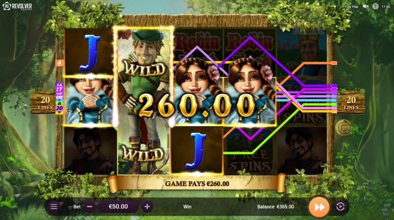 Robin Hood and his Merry Wins :: Multiple winning paylines