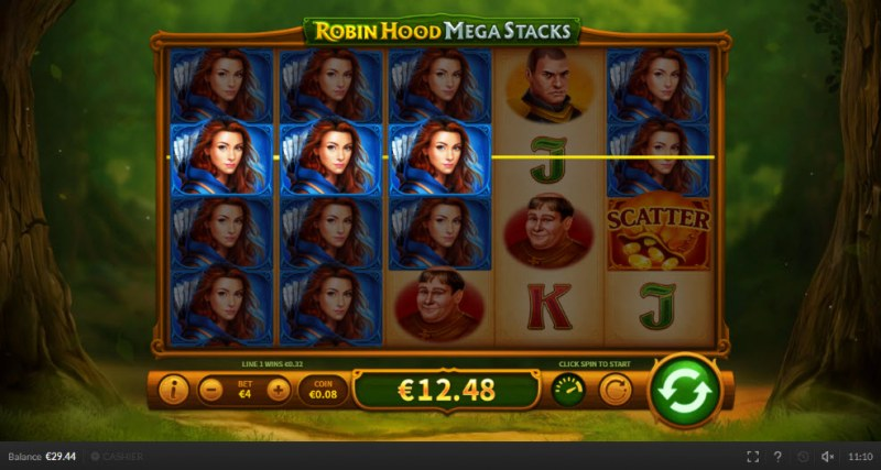 Robin Hood Mega Stacks :: Stacked symbols leads to multiple winning paylines