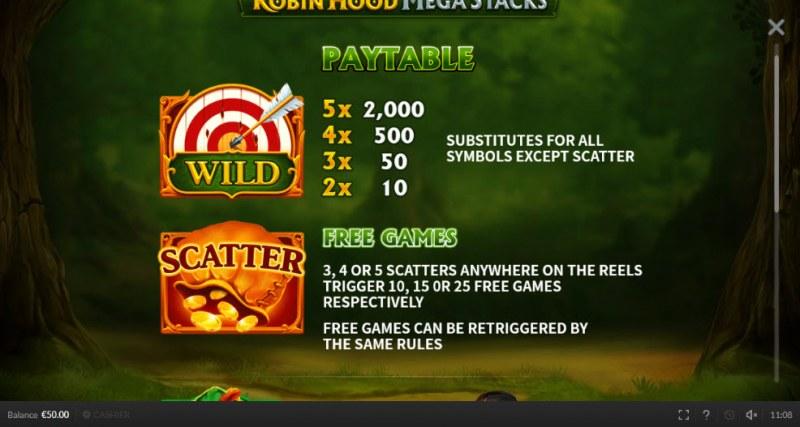 Robin Hood Mega Stacks :: Wild and Scatter Rules