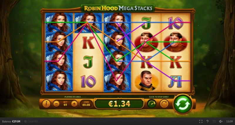 Robin Hood Mega Stacks :: Multiple winning paylines