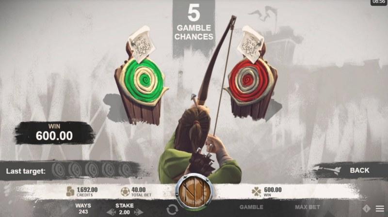 Robin of Sherwood :: Gamble Feature Game Board
