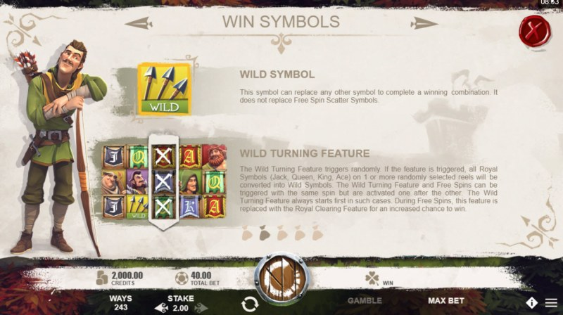 Robin of Sherwood :: Wild Symbols Rules