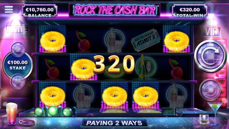 Rock The Cash Bar :: A five of a kind win