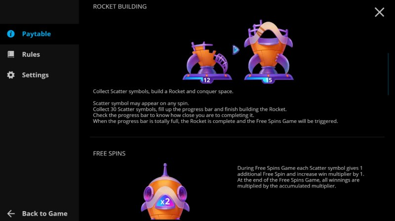 Rocket Star :: Feature Rules