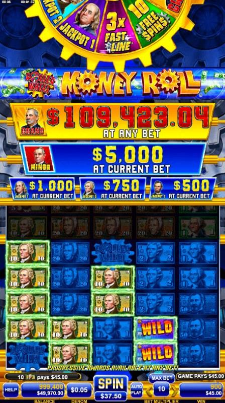 Roller Wheel Money Roll :: Multiple winning combinations