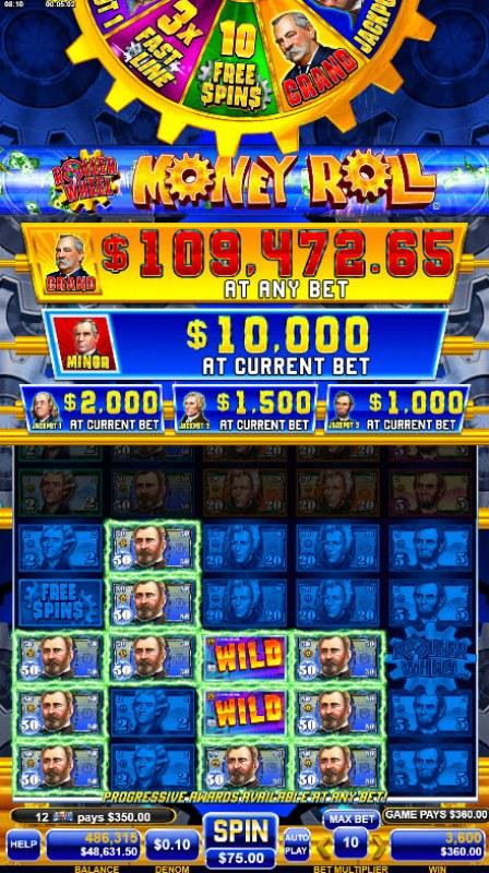Roller Wheel Money Roll :: Multiple winning paylines