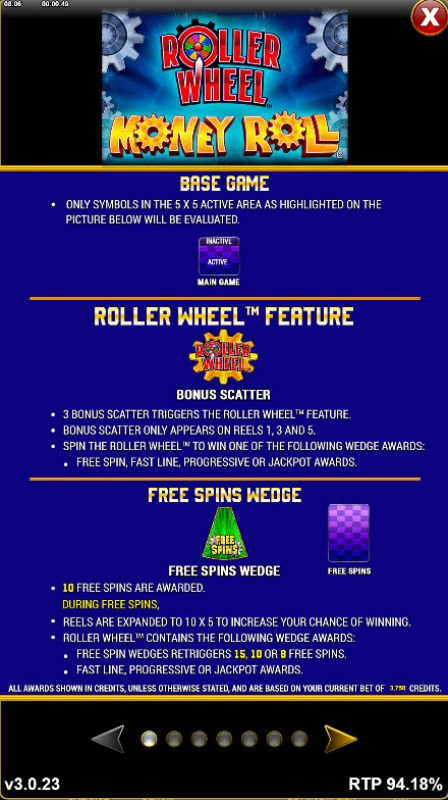 Roller Wheel Money Roll :: Roller Wheel Feature